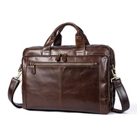 Men's Briefcase Male Genuine Leather Men Bags Messenger Bag Men's Shoulder Bags Leather Laptop Bag Men for Document