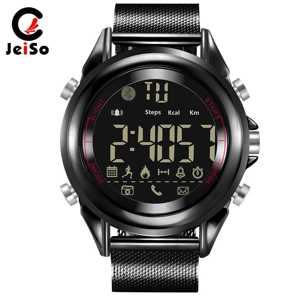 JEISO новые спортивные умные мужские часы калорий шагомер мульти-функции Bluetooth модные мужские светодио дный s военные СВЕТОДИОДНЫЕ электронны...