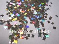 New arrival very cute Laser Silver Butterfly Glitter spangles Paillette Decoration for Nail Art  30g/bag