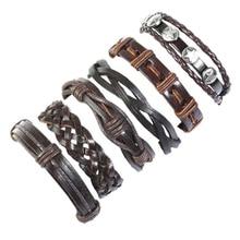 Vintage woven leather bracelet set diy bracelet for women  bracelet for student  punk  adjustable student cuff bracelet vintage leaf woven bracelet for men