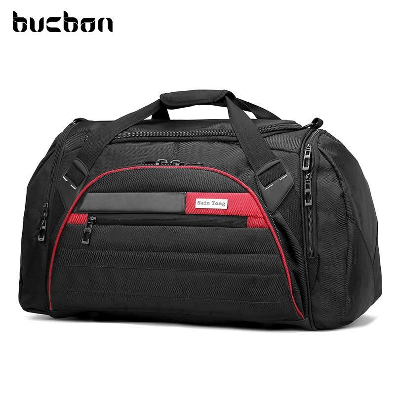 Bucbon 45l большой Многофункциональный спортивная сумка Для мужчин Для женщин Фитнес Gym bag Водонепроницаемый Открытый путешествия Спорт Tote Сумки на плечо hab092