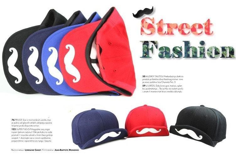 solid color mustache baseball caps short brim cap unisex hat (7)