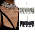 N2016101002 z choker collar mujeres joyería de moda punk collar de gargantillas de cristal collier femme bijoux collar de la borla de la vendimia