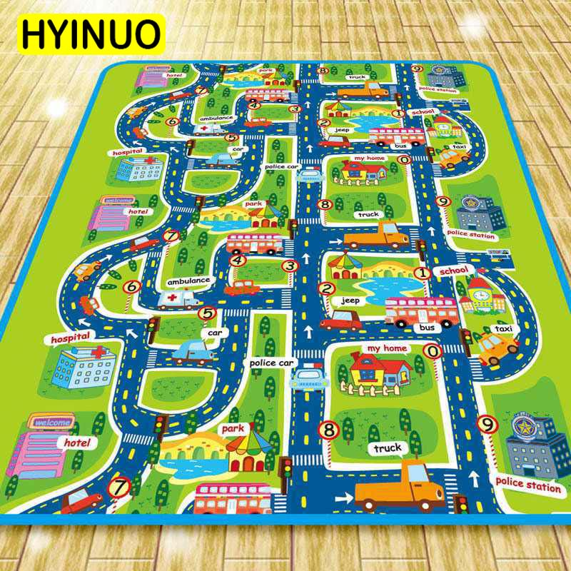 Town traffic track baby crawling mat EVA foam climbing mat greenway children 39 s play mat baby carpet children 39 s outings must kind in Play Mats from Toys amp Hobbies
