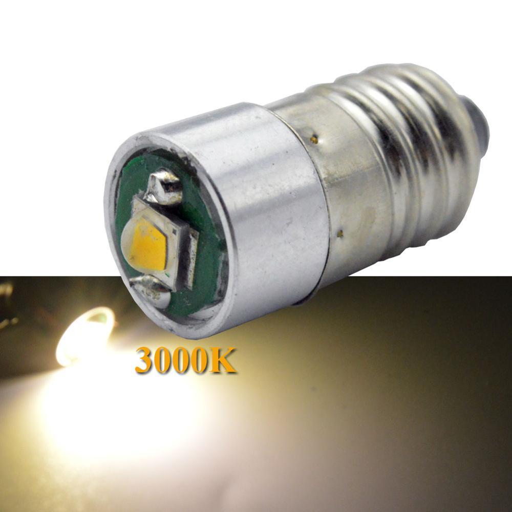 1PCx Super bright 5V 6V 12V 18V 24V screw base XPG Car Truck Pilot LED bulb E10 for vintage viewers white 3W