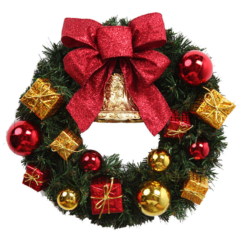 Where To Buy Christmas Decorations Year Round: Christmas Wreath Round Handcrafted New Year Elegant
