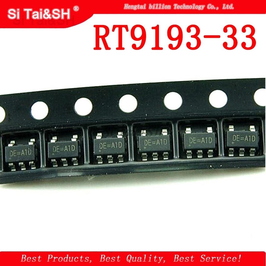 10pcs/lot RT9193-33 RT9193-33GB SOT-23-5 DE = A1D New Original