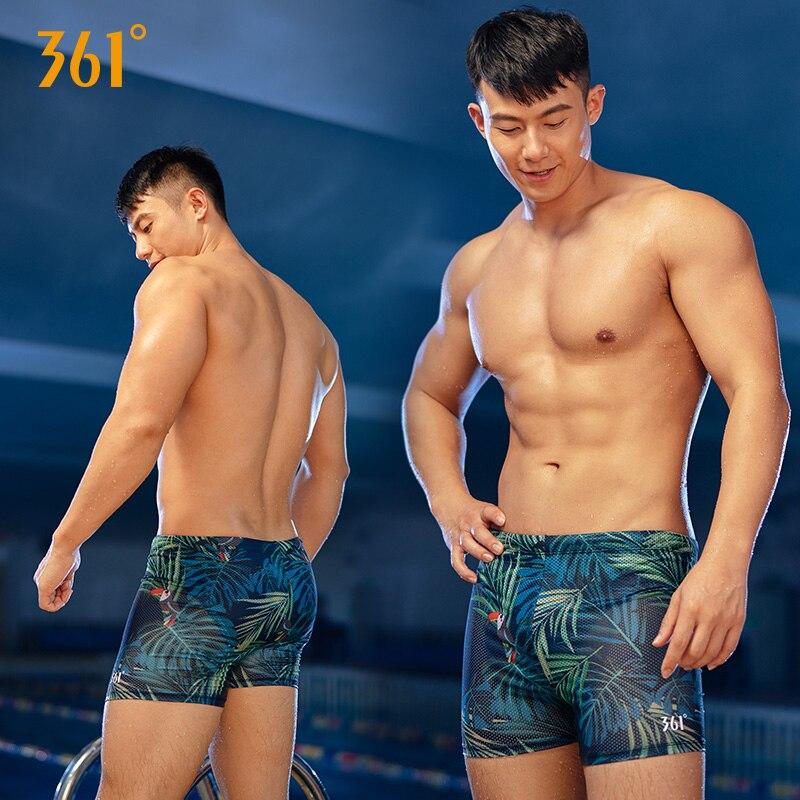 4abf3bb734cd75 361 Men Swimwear with Pad Plus Size Print Swimming Trunks for Men Tight Swim  Shorts Boys Swimwear Male Swimsuit Bathing Suit
