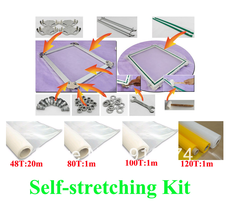 FAST FREE shipping discount 16x20 inches silk screen printing self stretcher kit self stretching tension frame t shirt printer