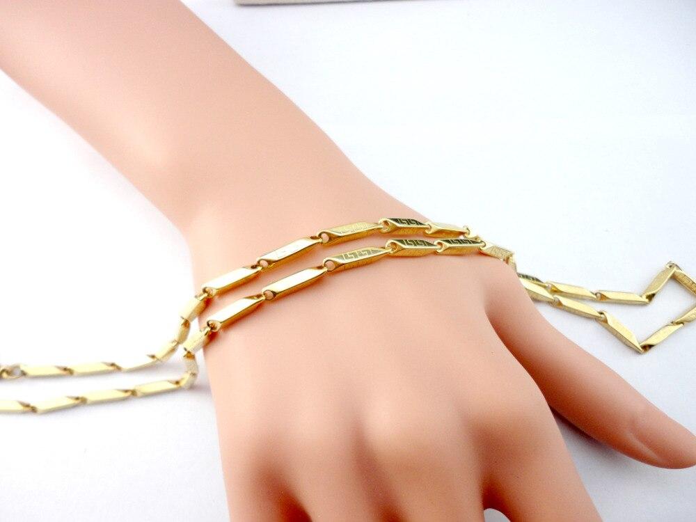 EcooLin 22.06 դյույմ Բամբուկե ոսկե - Նորաձև զարդեր - Լուսանկար 3