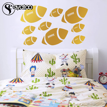 9pcs American Football Rugby Soccer Sports Vinyl Wall Decal Sticker Kids Boys Bedroom 58x98cm