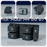 Polarlander Electric Window Switch Window Lifting Switch 8ED959851 8ED959855 for A/udi A4 B6 B7 Left Front Door Master