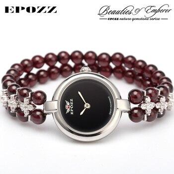 Beauties of Emperor EPOZZ nature gemstone series new quartz watch women 925 Silver bead jewelry watches pearl bracelet H0721S1