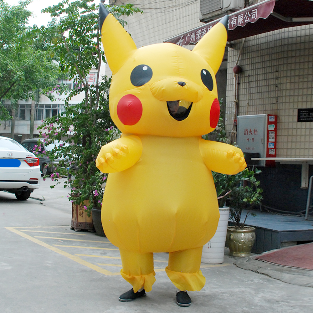 Child Christmas Carnaval Pikachu Inflatable Costume Cosplay Spirit Dress Pokemon Costumes Mascot Halloween Costumes for Kids