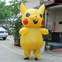 child christmas carnaval pikachu inflatable costume cosplay spirit dress pokemon costumes mascot halloween costumes for kids
