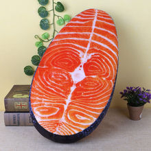 New 1Pc Creative 3D Washable Pillow Sushi Salmon Simulation Cushion Home Decor Plush Toy Gift