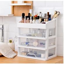 Plastic Cosmetic Storage Box Multifunction Desktop Storage Boxes Drawer Makeup Organizers Stationery Storage Organizer