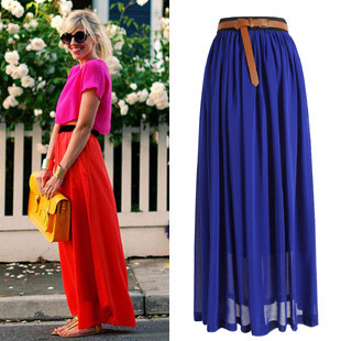 New 2014 Brand Women Summer Plus Size Vitage Long Skirt Casual Tulle Party Wear Chic Slim Hip Chiffon 15 Colors Free Shipping In Skirts From Womens