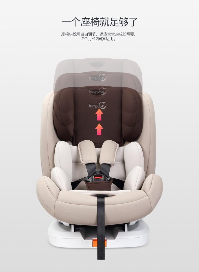 0-12 Jahre Alt Kind Baby Auto Sitz Kann Sitzen Und Liegen Zwei-weg Installation Sicherheit Sitz Lange Lebensdauer