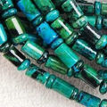 "2014 Fashion New  jewelry 6x9mm Azurite Chrysocolla Gem Column Loose Bead 15""  Natural Stone Wholesale Price"