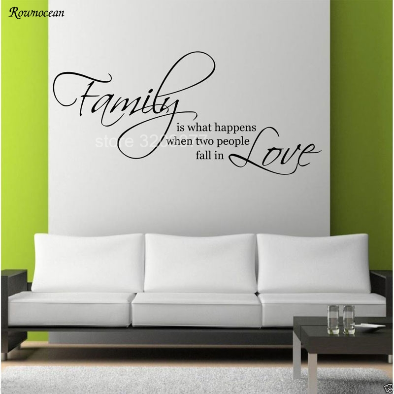 Family Love Quotes Wall Art Sticker bedroom & Living Room Decal Artistic font Mural DIY Poster Vinyl Adesivo De Parede H511