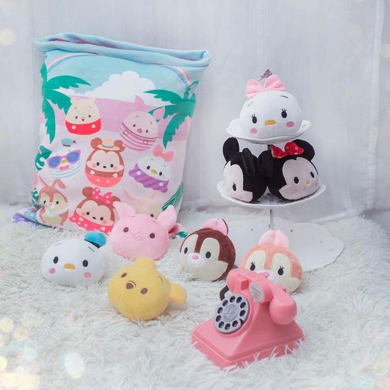 Mini Cartoon Plush Toys Bag Pillow