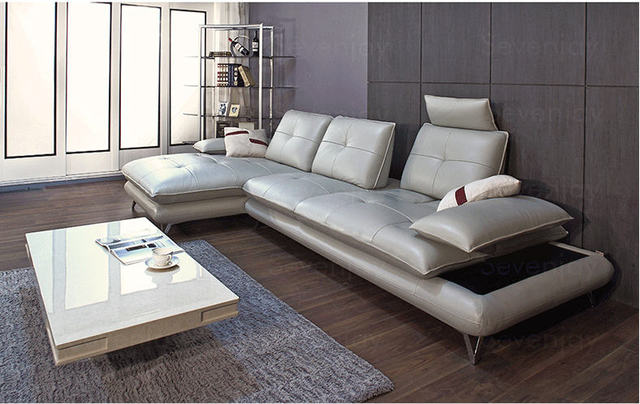 Living Room Sofa set corner sofa couch genuine leather sectional ...