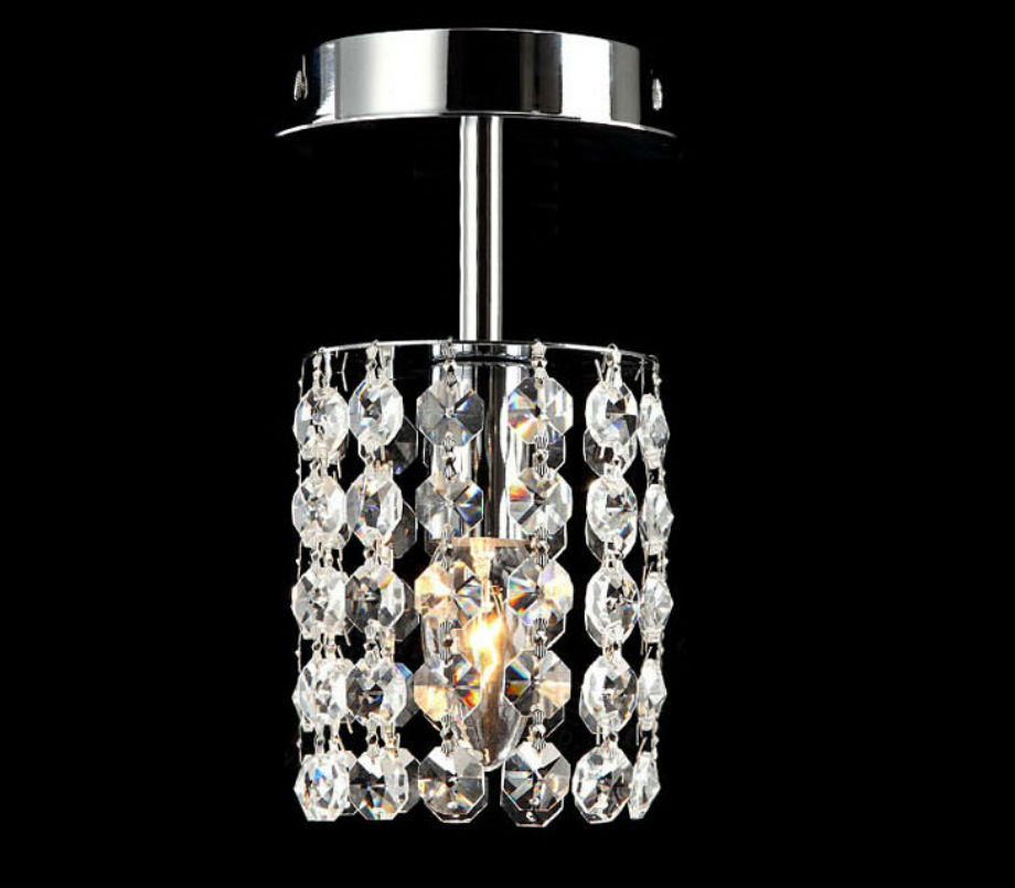 ФОТО Modern Europe style Crystal  corridor lights absorb dome light dia10cm H22cm E14*1  k9 crystal circle aisle lamp ceiling lamp