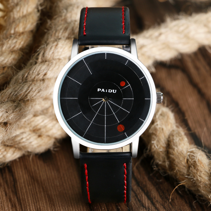 Creative Design Wristwatch Turntable Concept Brief Simple Special Digital Discs Hands Fashion Quartz Watches Relogio Masculino 2017 gift for girl enmex creative design wristwatch camera concept brief simple colourful series fashion quartz lady watches