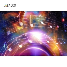 Laeacco Music Key Colorful Night Party Portrait Photography Backgrounds Customized Photographic Backdrops For Photo Studio
