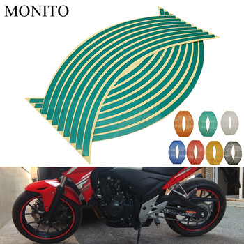 Motorcycle Wheel Sticker Reflective Decals Rim Tape Strip For BMW F800GS F800GT F800S F800ST Adventure F800 GS/GT/R Accessories image