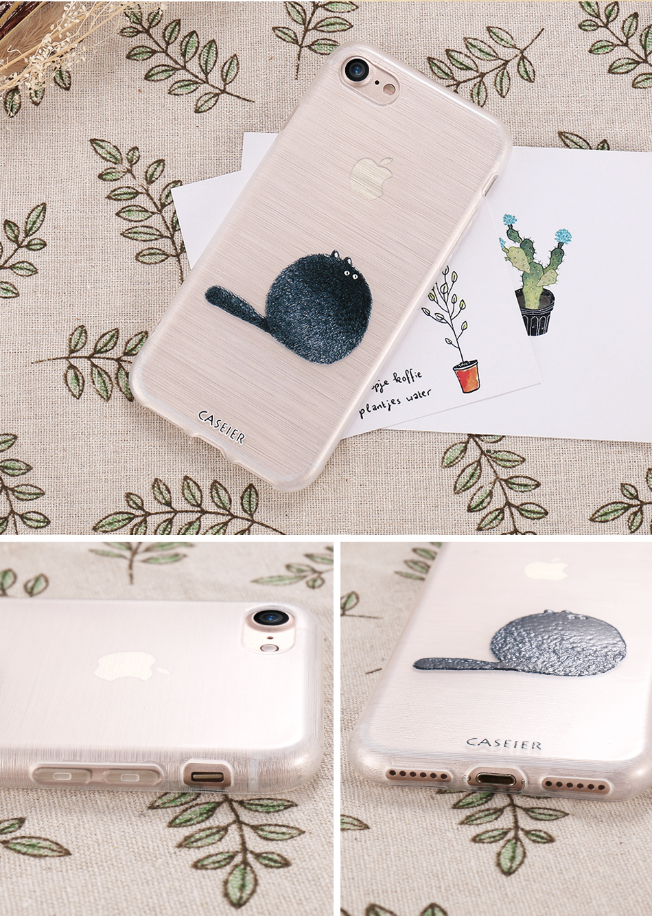 Cat Soft TPU Silicone Case For iPhone