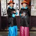 Dinastía Qing de China Antigua collar Togae ropa traje de Los antiguos Chinos de los uniformes oficiales
