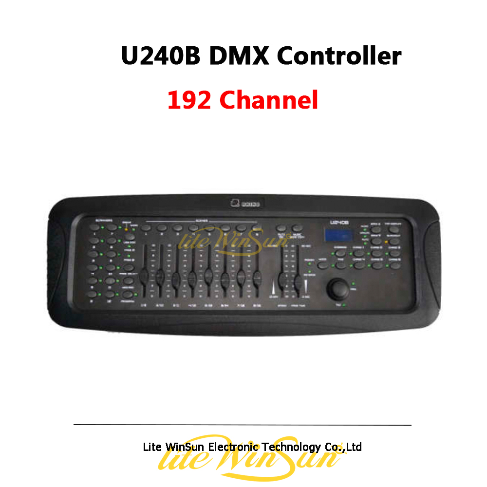 DMX512 Controller U240B For Moving Head Light Operator Party DJ Stage Lighting Console 12 Lights 16 Channel USB Backup