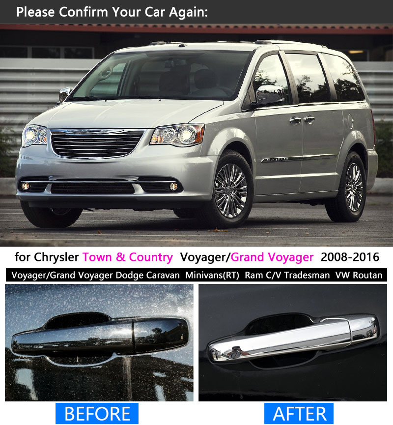 for chrysler town country 2008 2016 chrome handle cover trim set rh aliexpress com 2009 Town and Country 2008 Chrysler Town and Country Interior