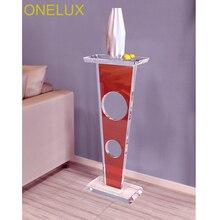Colored Acrylic Lucite Sculpture Pedestal Stand- 30W 18D 75H CM
