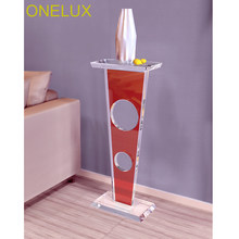 Colored Acrylic Lucite Sculpture Pedestal Stand- 30W 18D 75H CM(China)