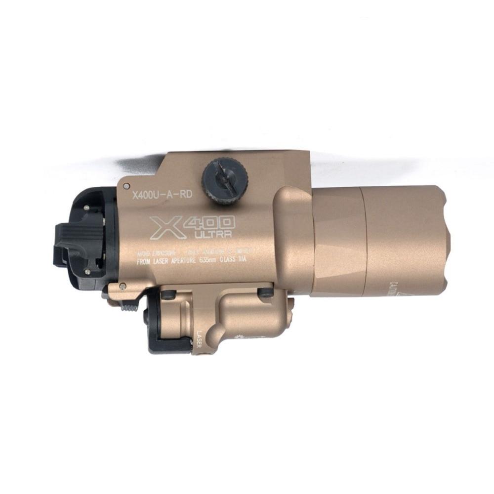 Lanterna tática SF X400U Luz Arma Com