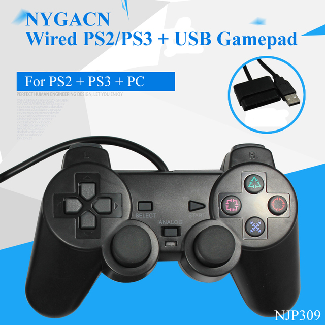 NYGACN wired for PS2 + USB connect gamepad NJP309 game handle for ...