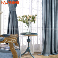 New Arrive Modern Solid Velvet Blackout Curtains For Living Room Hotel Bedroom Curtain Embroidered White Sheer Curtain WB0415