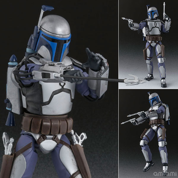 6 Star Wars SHF Jango Fett Bounty Hunter Moveable Boxed 15cm PVC Action Figure Collection Model Doll Toys Gift