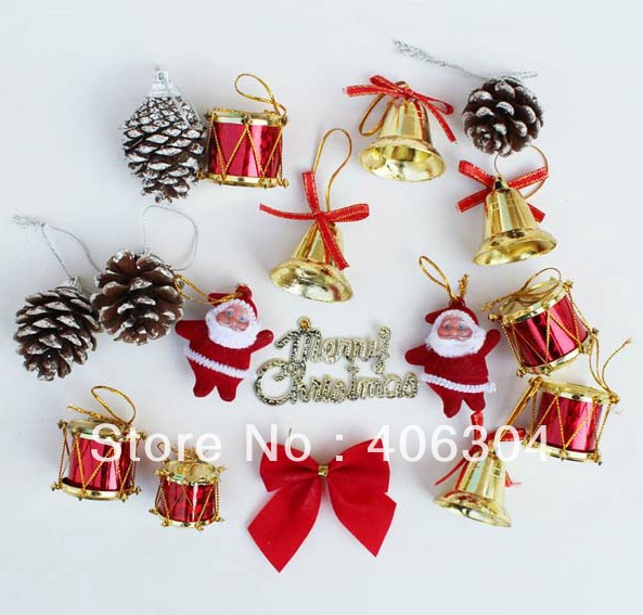 Free Shipping 30sets Lot Christmas Tree Decoration Christmas Gift