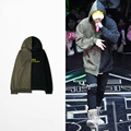 Japanese Street About Popular Logo Stitching Irregular Hooded Catwalk Zico Same Set Head Cap Unlined Upper Garment Hoodies Men