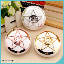Lymouko New Design Rose Gold Silver Pentagram ABS Portable Contact Lens Case with Mirror for Lady Gift Container Lenses Box
