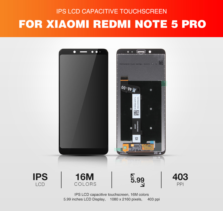 Original Xiaomi Redmi Note 5 Pro Lcd Display Digitizer Frame 10 Touchscreen 1 X With 8 In Repair Tools