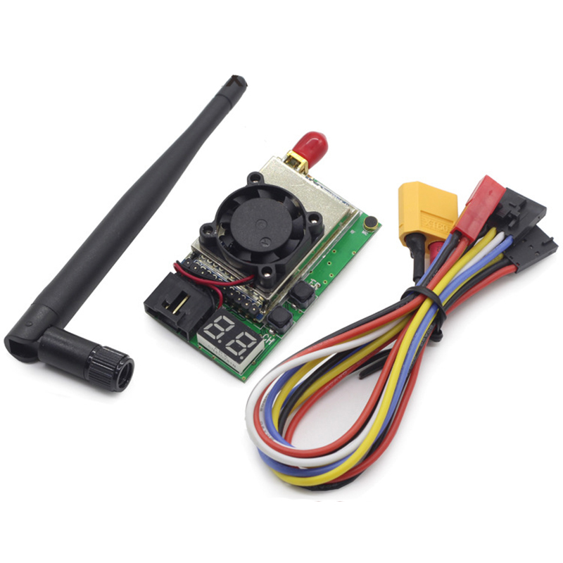 3S 6S Wide Range 5.8G FPV 32CH VTX 1500mW 1.5W video Transmitter with Cooling fan antenna/LED Display Support AAT Tracking