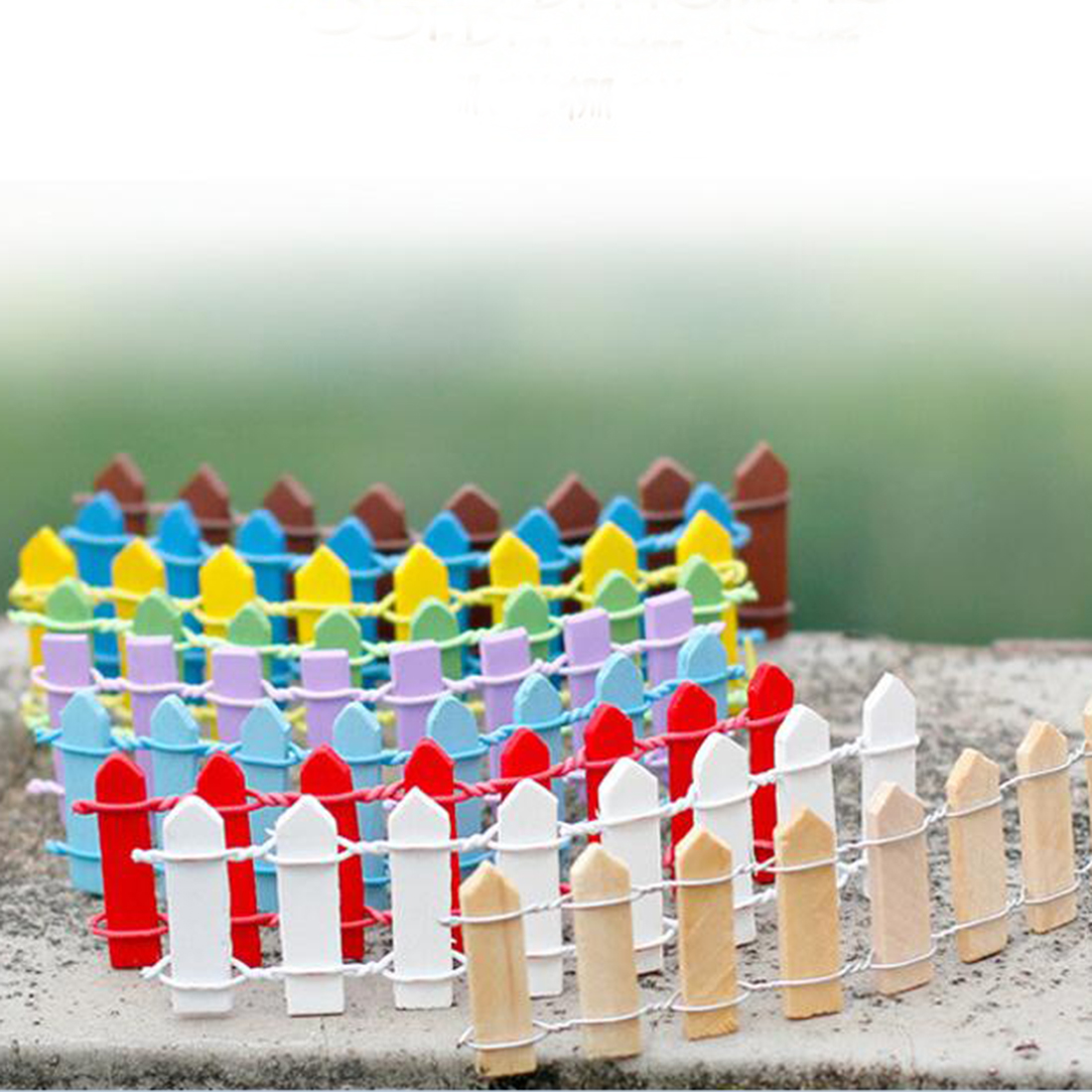 venta caliente unids suculentas carnosa musgo musgo paisaje micro decoracin valla pequea valla de madera