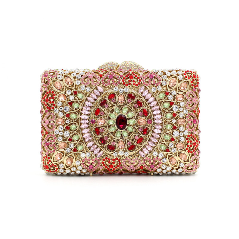 Flower Wedding Bags Purses Rhinestones Party Purse Black Crystal Clutch Women Evening Handbag Womens Handbags women luxury rhinestone clutch evening handbag ladies crystal wedding purses dinner party bag bird flower purse zh a0296