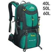 40L 50L 60L Outdoor Waterproof Bags Backpack Men Mountain Climbing Sports Rucksack Hiking Bagpacks Women Bag Camping Travel Bag цены