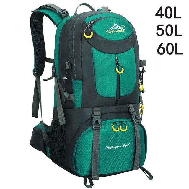 40L 50L 60L Sacos Homens Mochila de Alpinismo Mochila Esportes Ao Ar Livre À Prova D' Água Caminhadas Bagpacks Mulheres Saco Saco de Viagem de Acampamento